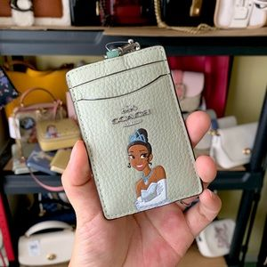 Coach x Disney Tiana badge lanyard ID